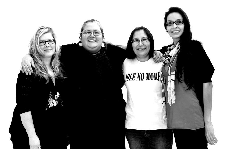 The four women founders of Idle No More: Nina Wilson, Sheelah Mclean, Sylvia McAdam and Jessica Gordon