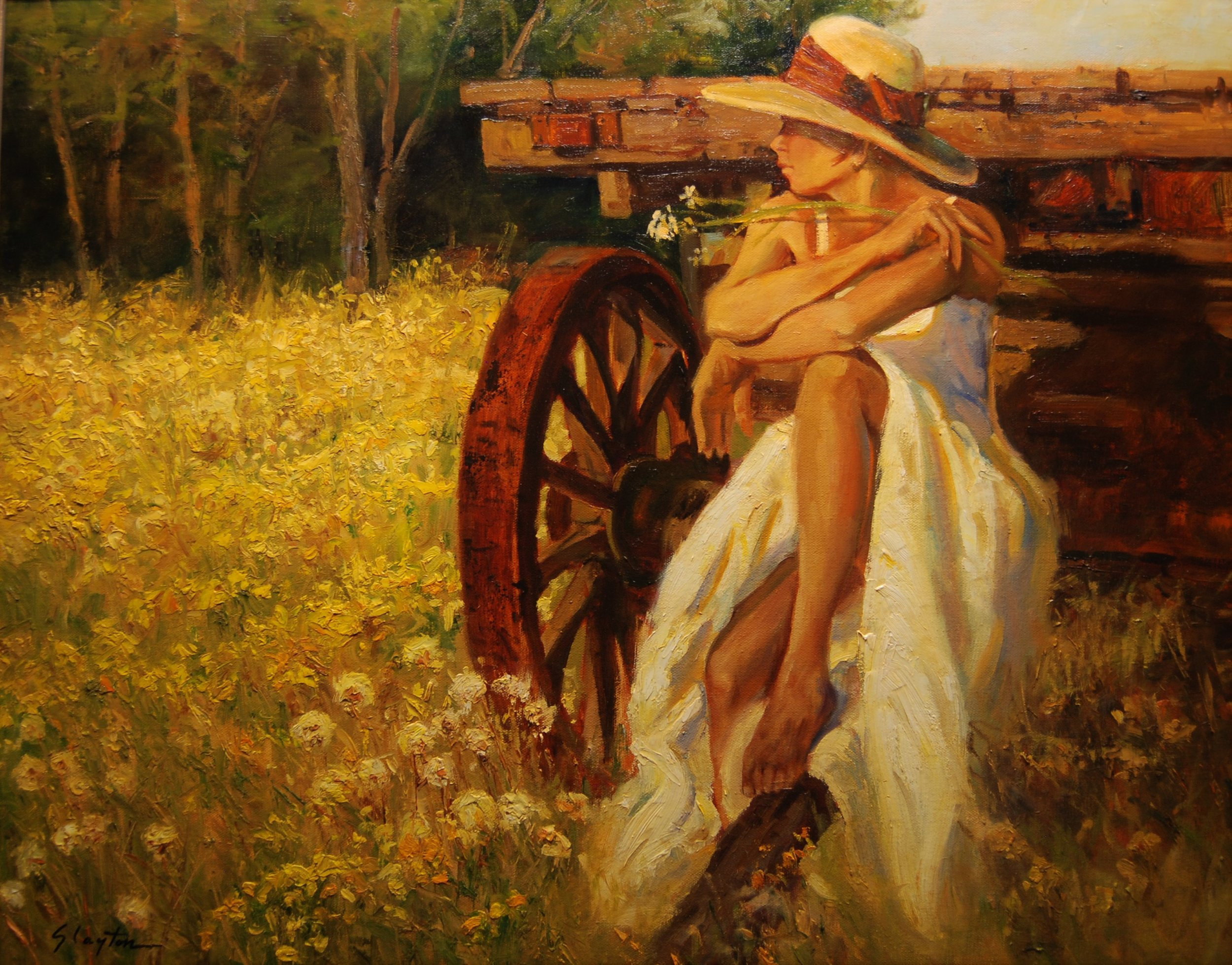 Country Summers  24 x 30  Oil on Canvas