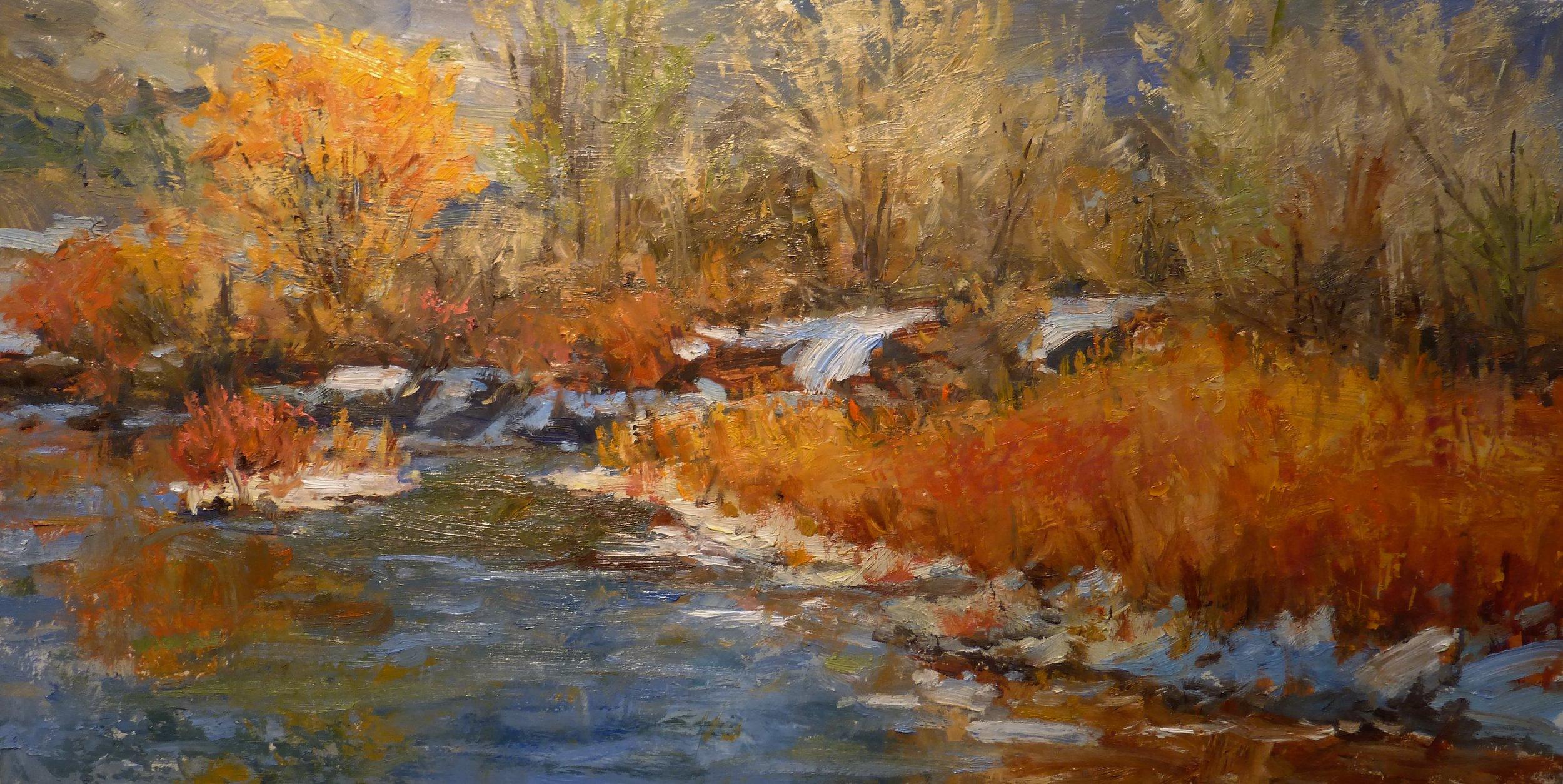 Winter Willows  12 x 24  Oil on Panel