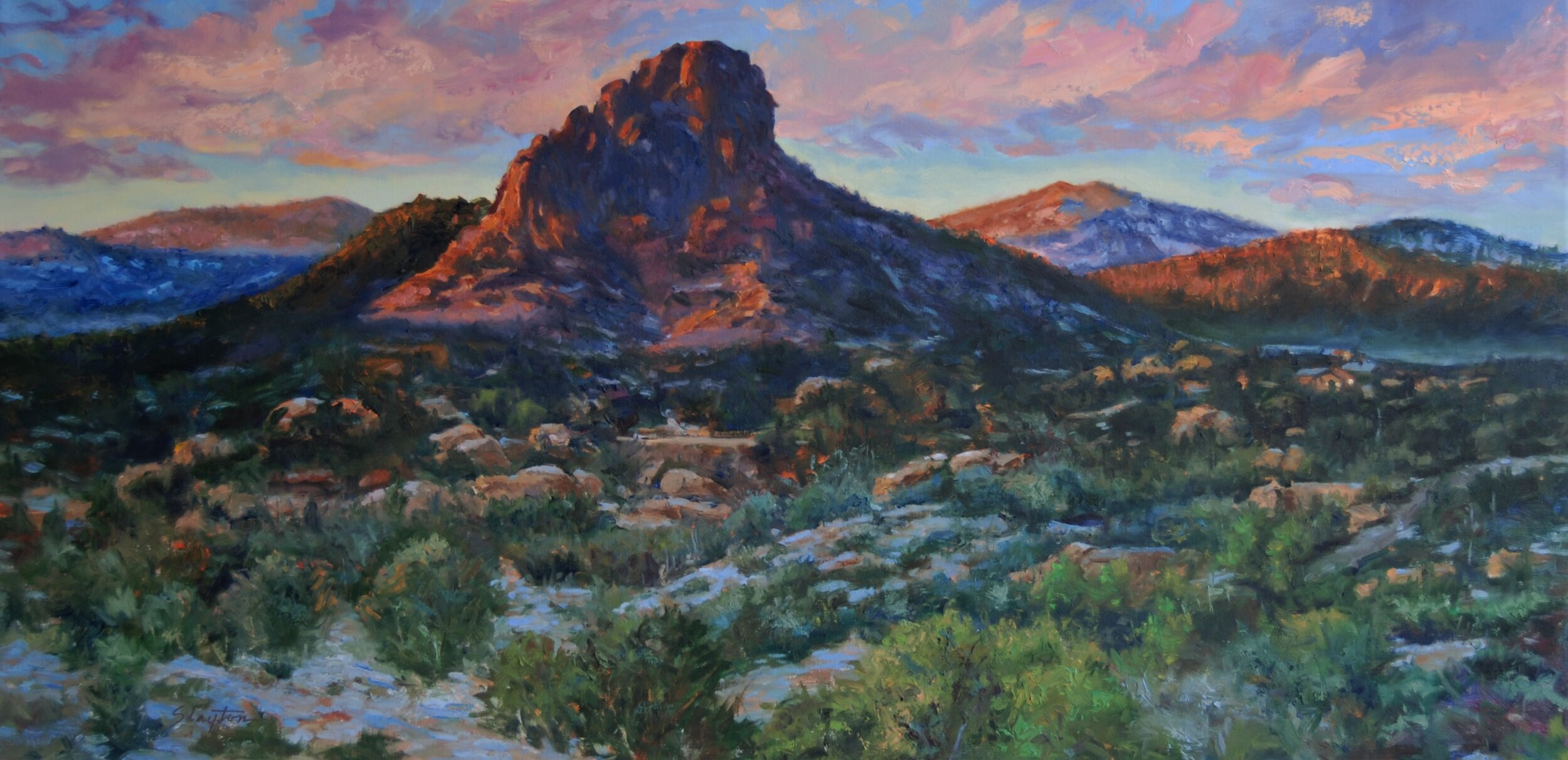 Winter Morning on Thumb Butte 24 x 48