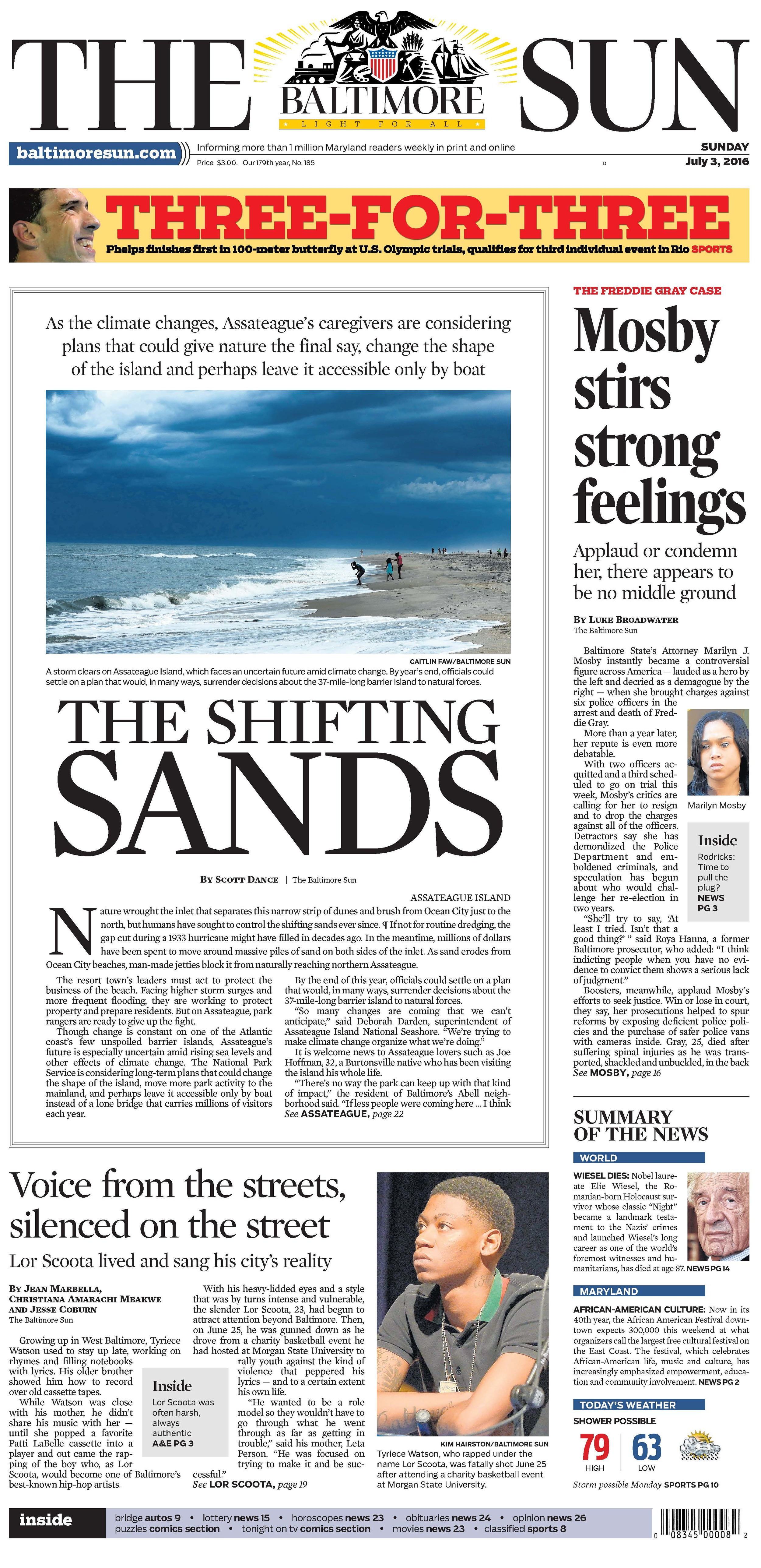 The Baltimore Sun   Sunday, July 3, 2016