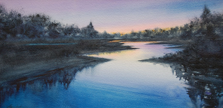 Indigo River  8 x 16