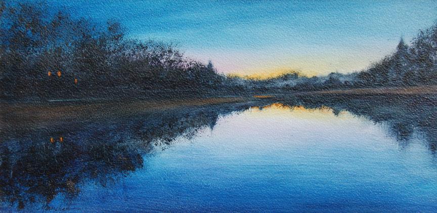 Twilight River  8 x 16