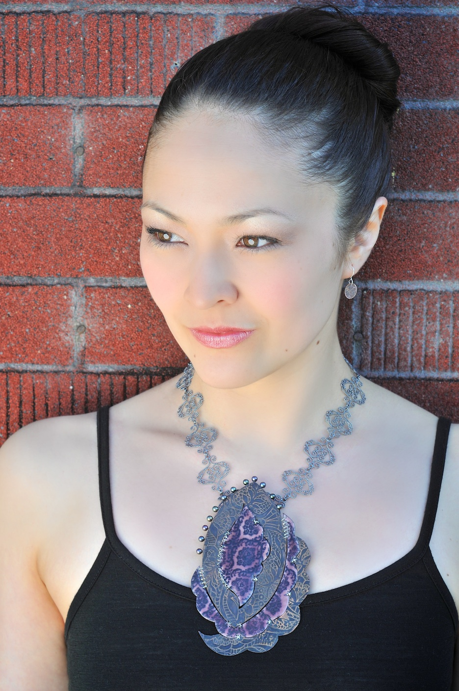 Debi Wong wearing the Melancholy Necklace
