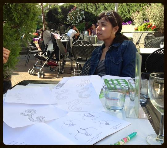 Our next design meeting on my favourite summer patio at The Art Gallery Cafe.