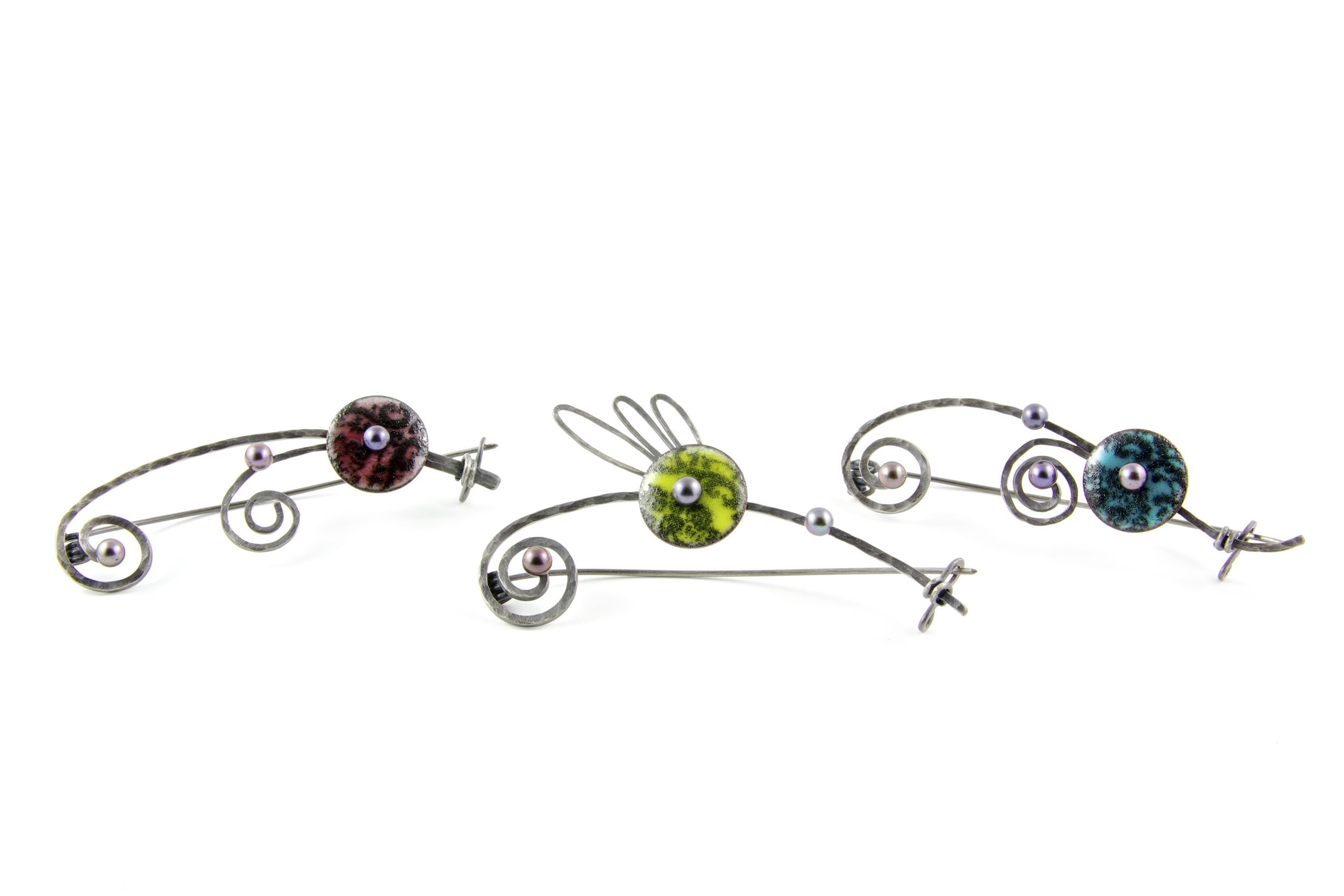 Quite Contrary Brooches
