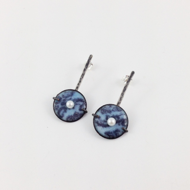 Periwinkle blue lollipop earrings