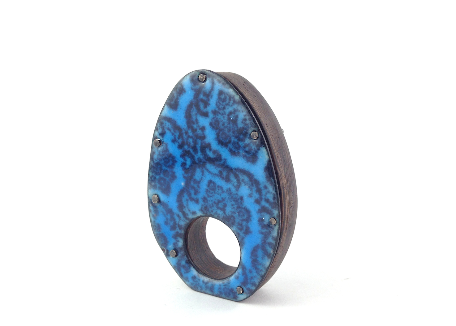 Wenge and Enamel Ring by Patsy Kolesar (me) ;)