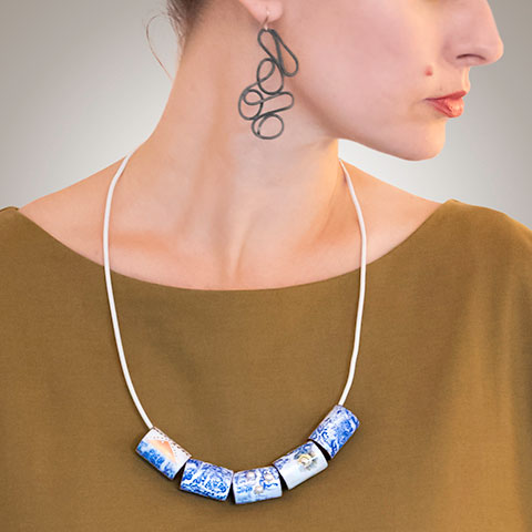 Blue Embrace Necklace, Patsy Kolesar, 2016.