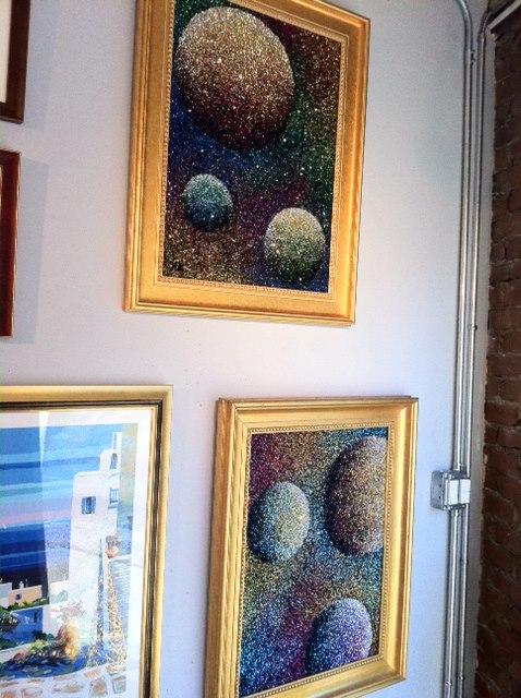 Paintings on display at Westport River Gallery located in Westport, CT.