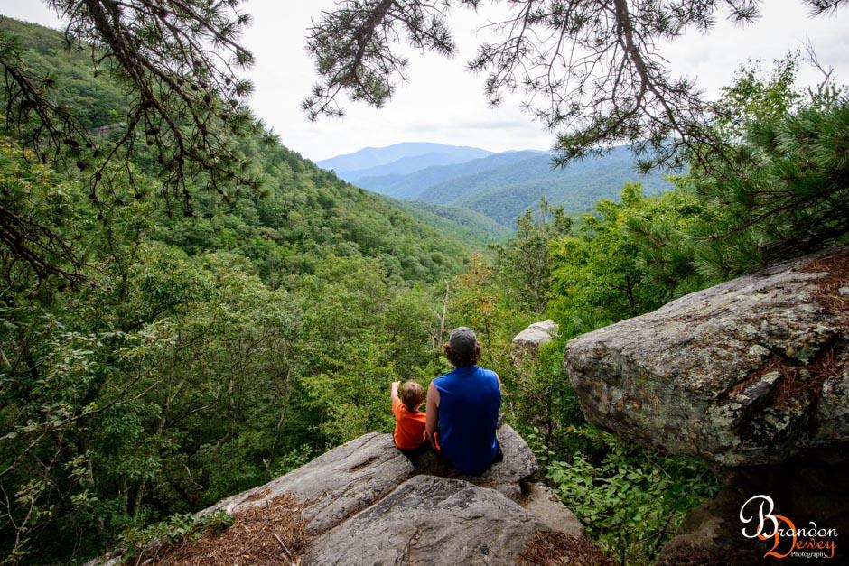 White Rock Falls Trail. Blue Ridge Parkway, VA.  Link to Photo