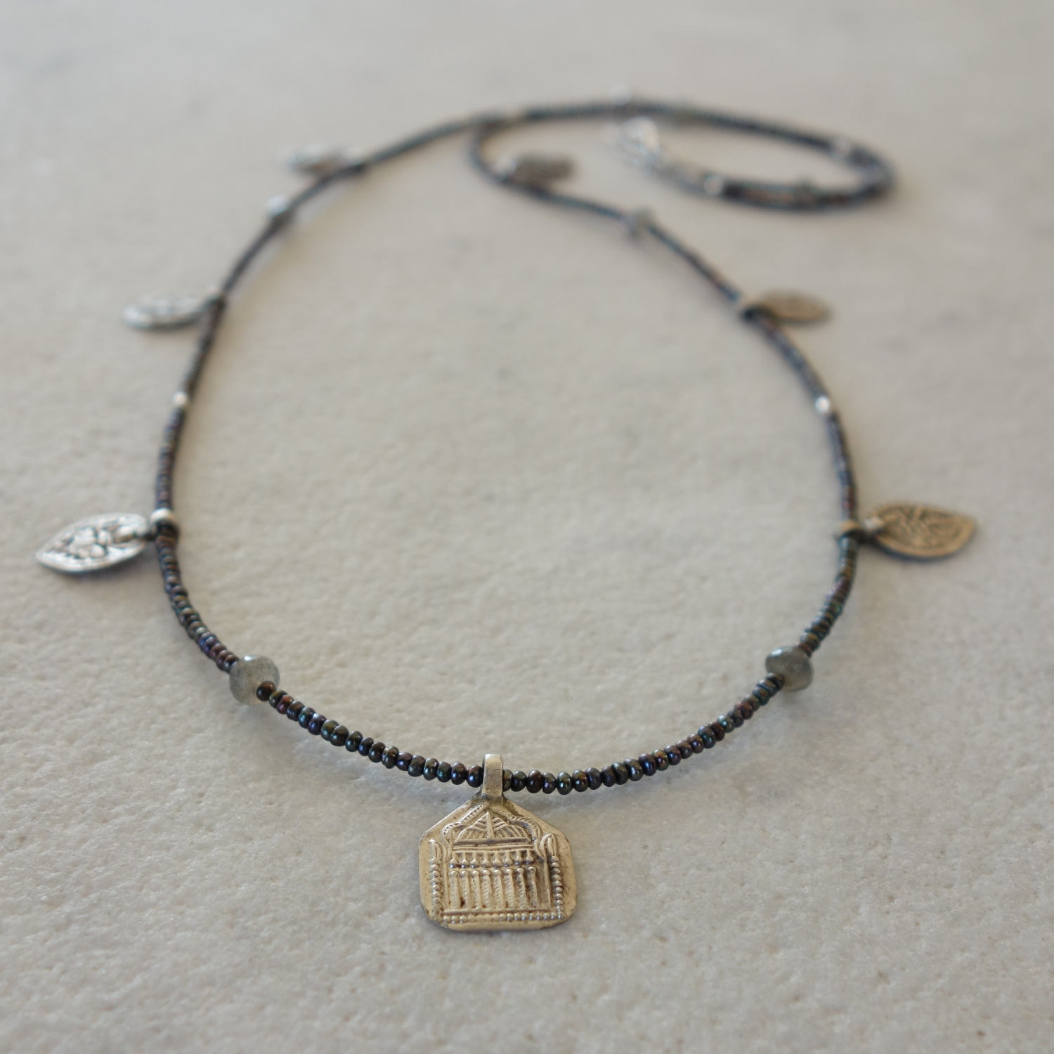 Old Indian Silver Coin Necklace