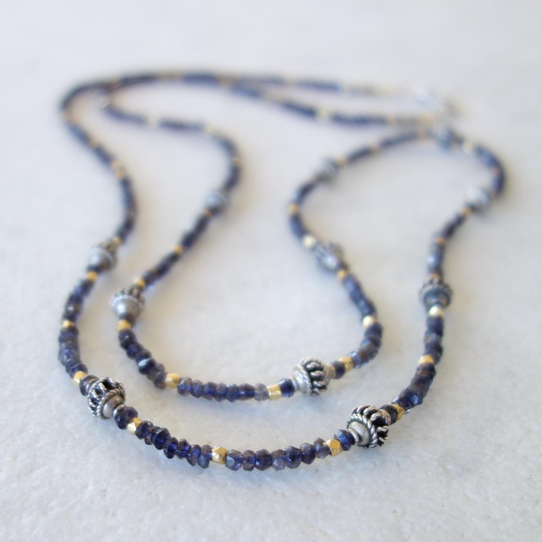 Iolite Necklace or Bracelet