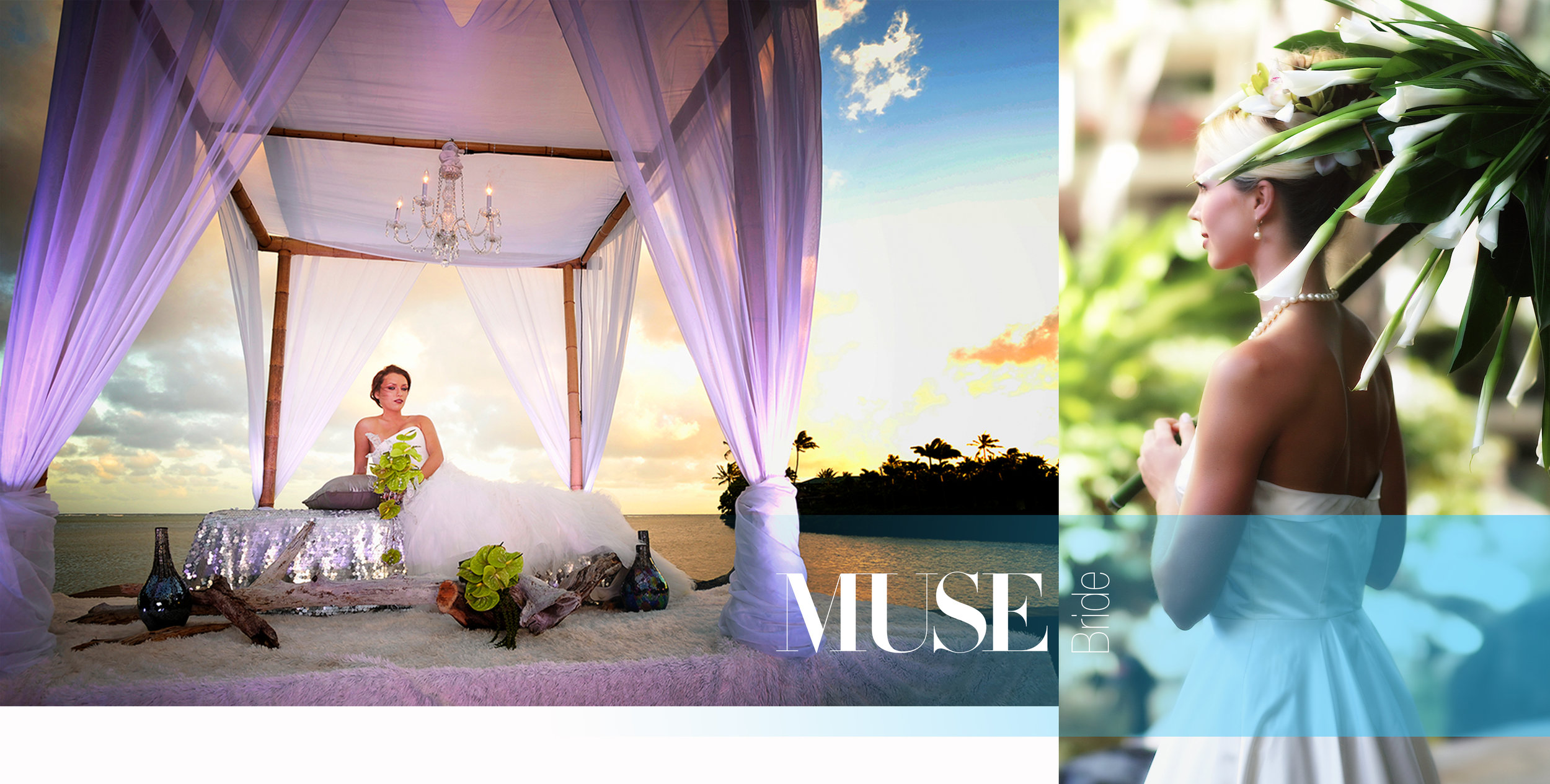 About MUSE Bride - At MUSE Bride I approach each Client event with a tremendous amount of care and consideration. My emphasis is on creating beautiful bridal images by utilizing the collective insights of my Clients and a deep understanding of cross-cultural forms and communication.