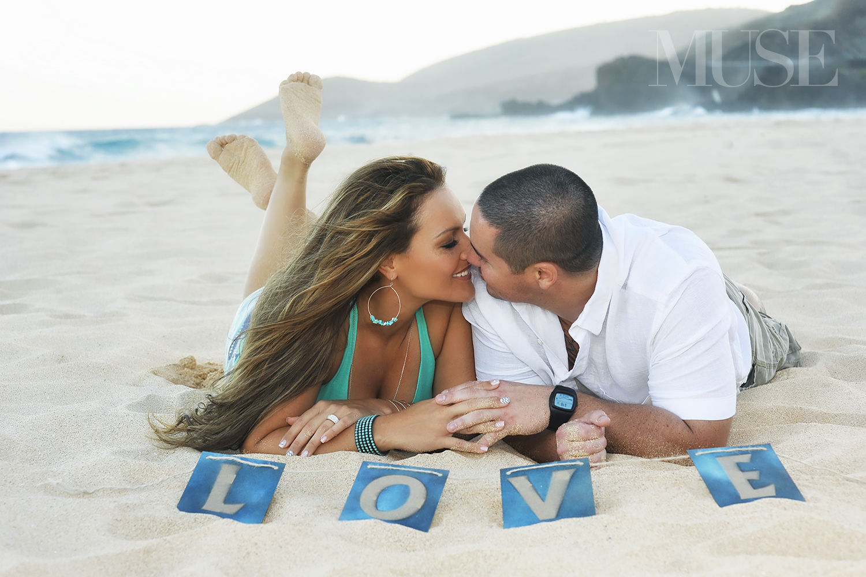 MUSE Bride Engagement Session Sandy Beach