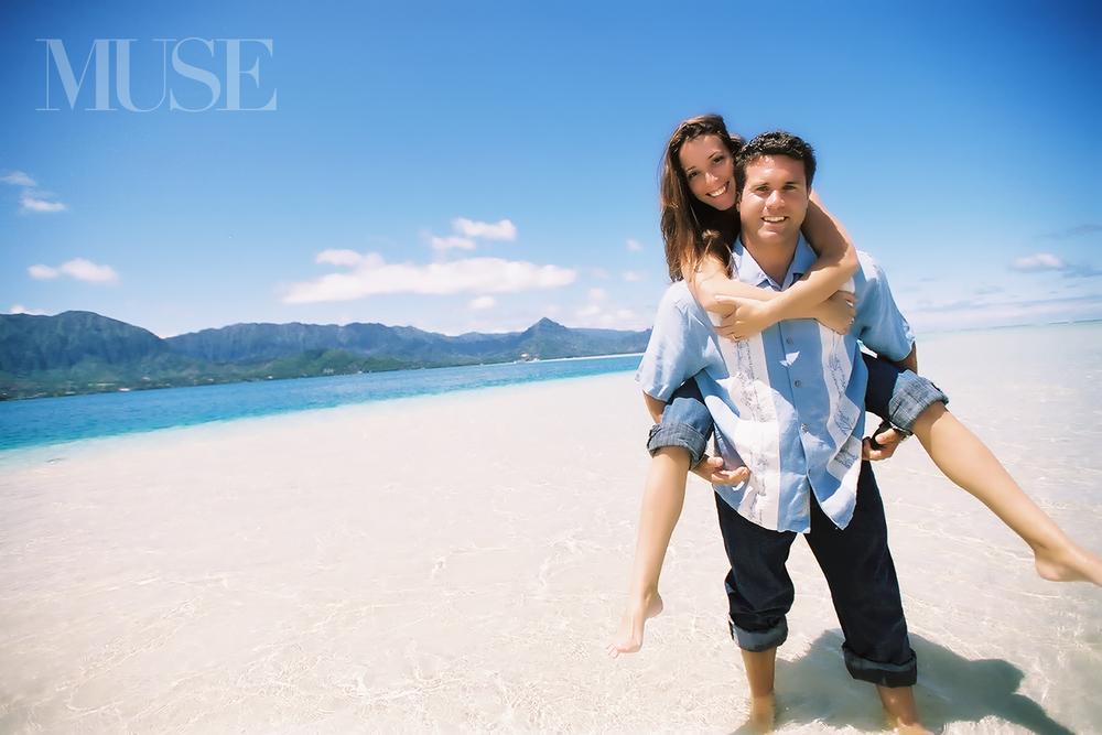 MUSE Bride Engagement Session Kaneohe Bay Sand Bar