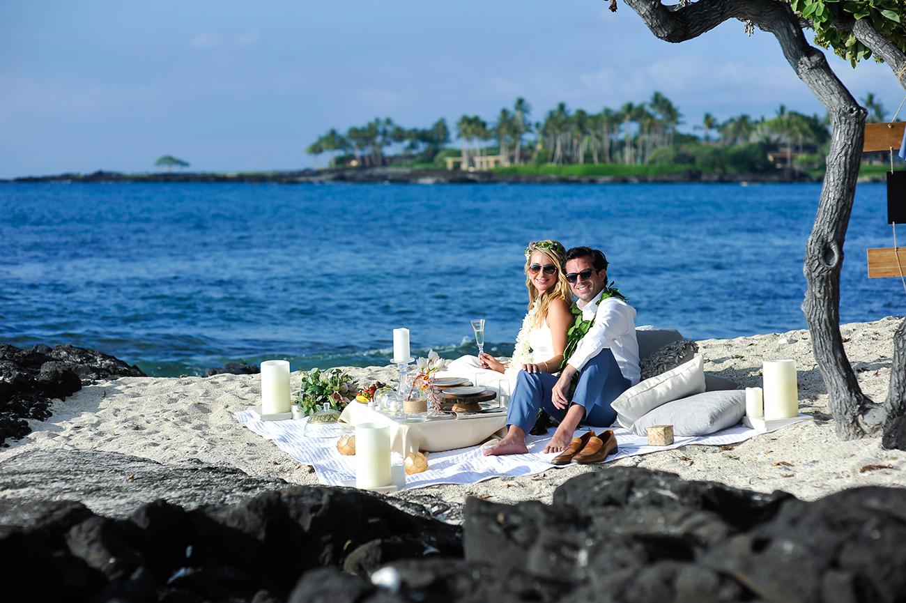 Alohilani Weddings - Natalie & Mark, Kikaua Point, Hawaiian Island