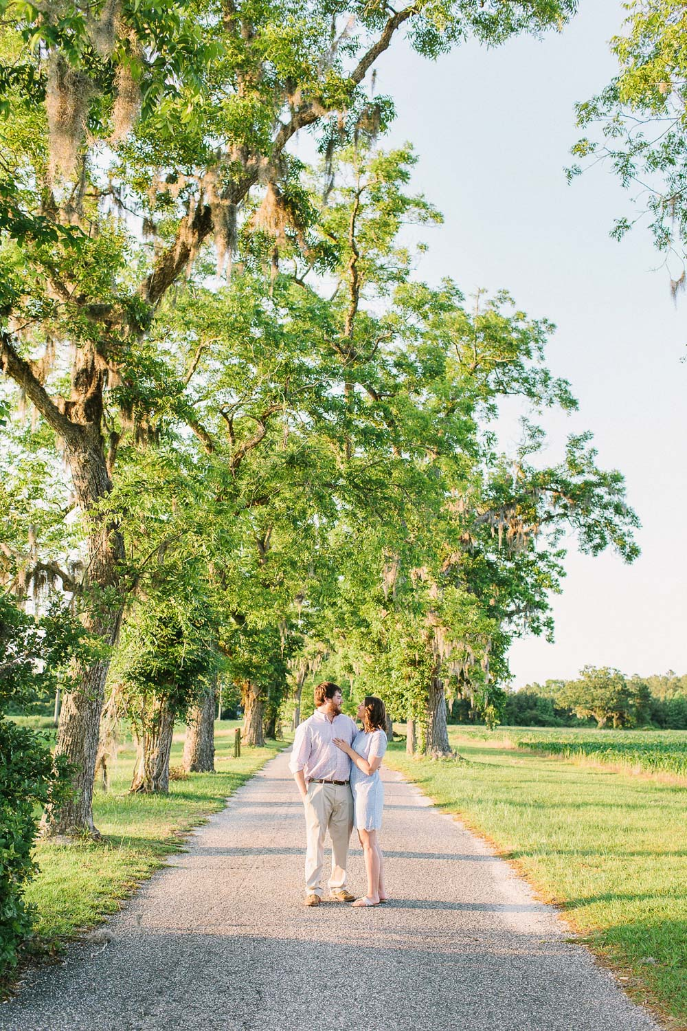 A summer engagement session near Wilmington, North Carolina at Lake Waccamaw by Lindsey A Miller Photography