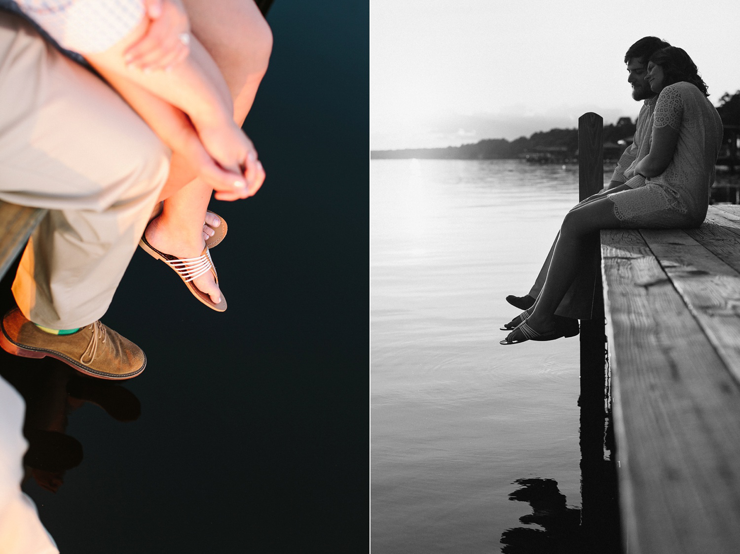 A summer engagement session near Wilmington, North Carolina at Lake Waccamaw by Lindsey A Miller Photography.