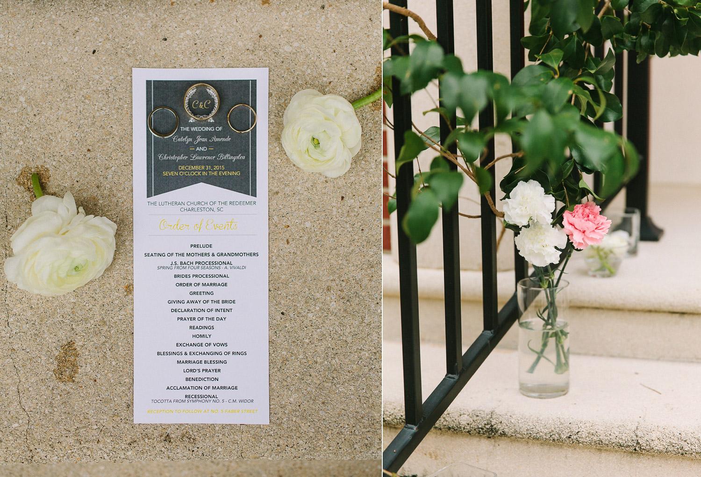 www.lindseyamiller.com Charleston SC New Years Eve Wedding at No