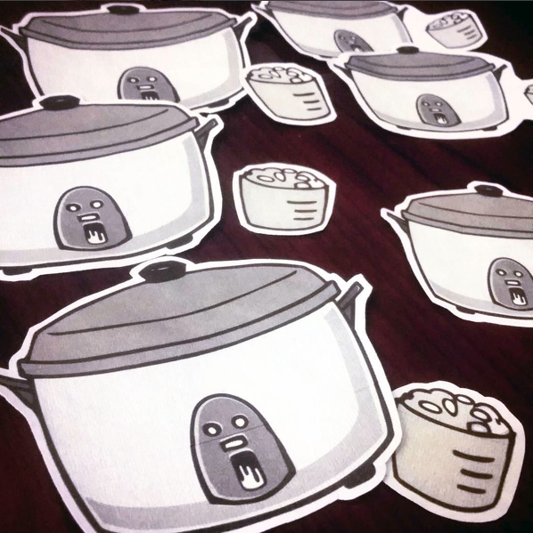 Rice Cooker Stickers