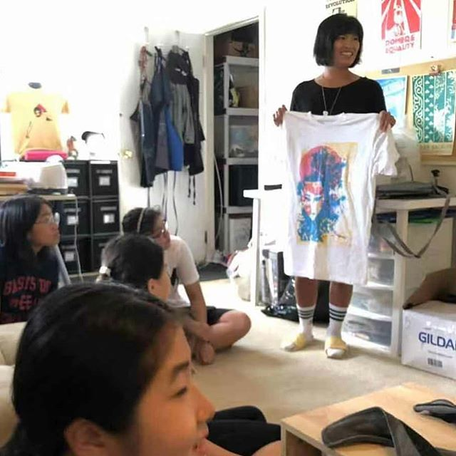 Thank you @Soulandinkcrew for an amazing screen printing workshop earlier this month! We were all inspired by your story and captivated by the design and printing process. 📷 Sherry and Frankie showing examples of both Soul & Ink and personal work, sharing Soul & Inks journey and growth through the years!