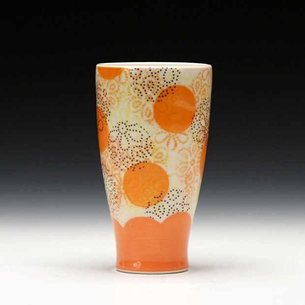 """Pots Purchased Online: Meredith Host, Dot Dot Tumbler. Purchased from Schaller Gallery website (photo courtesy of Schaller Gallery)                 0     0     1     10     63     GVSU     1     1     72     14.0                            Normal     0                     false     false     false         EN-US     JA     X-NONE                                                                                                                                                                                                                                                                                                                                                                                                                                                                                                                                                                                                                                                                                                                    /* Style Definitions */ table.MsoNormalTable {mso-style-name:""""Table Normal""""; mso-tstyle-rowband-size:0; mso-tstyle-colband-size:0; mso-style-noshow:yes; mso-style-priority:99; mso-style-parent:""""""""; mso-padding-alt:0in 5.4pt 0in 5.4pt; mso-para-margin:0in; mso-para-margin-bottom:.0001pt; mso-pagination:widow-orphan; font-size:12.0pt; font-family:Cambria; mso-ascii-font-family:Cambria; mso-ascii-theme-font:minor-latin; mso-hansi-font-family:Cambria; mso-hansi-theme-font:minor-latin;}"""