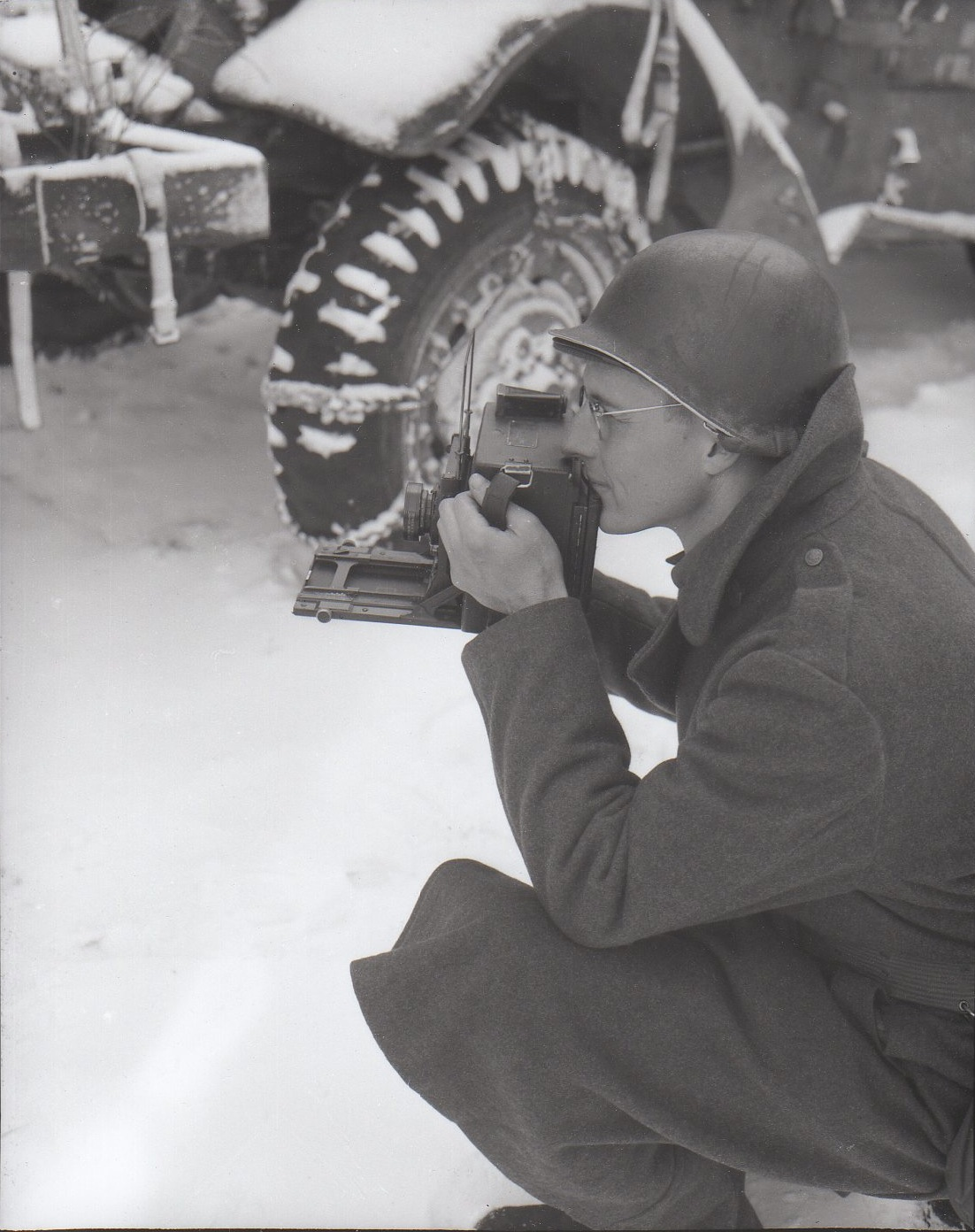 Bryan Allen, official WWII combat photographer and member of the 165th Signal Photo Company.