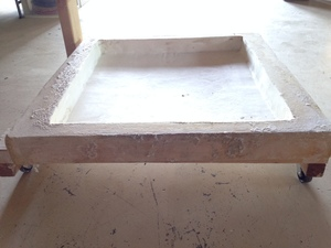 Trough for drying clay