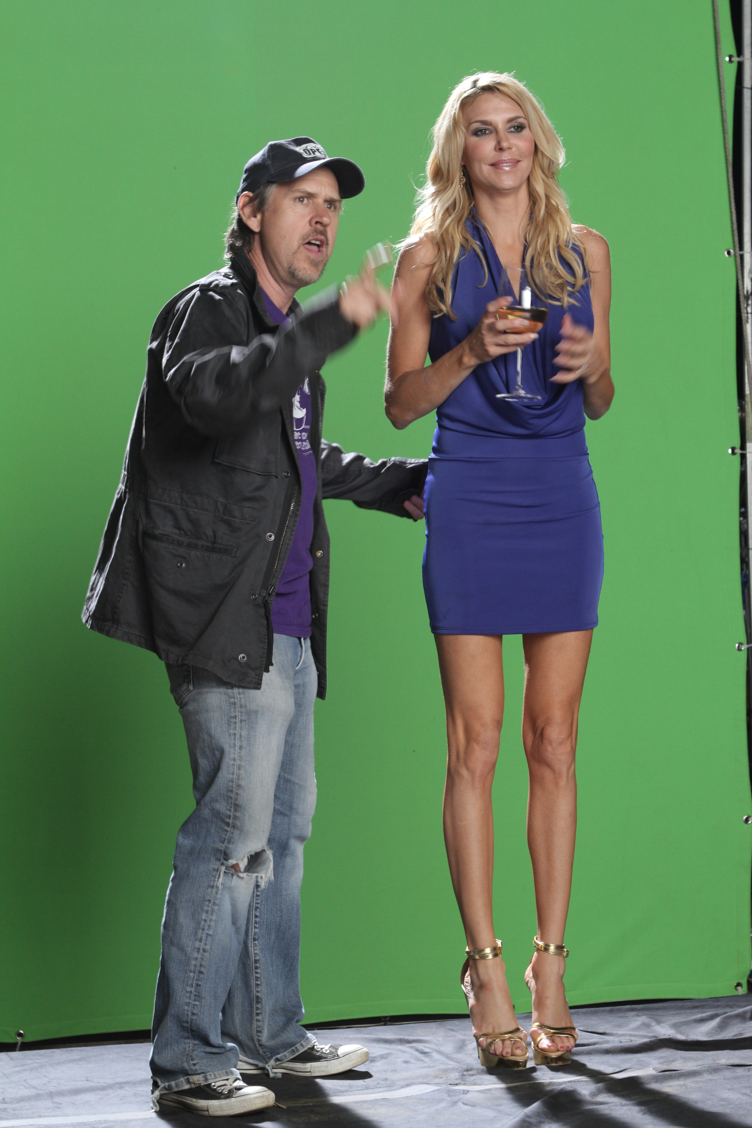 Green Screen with Brandi Glanville on The Hungover Games