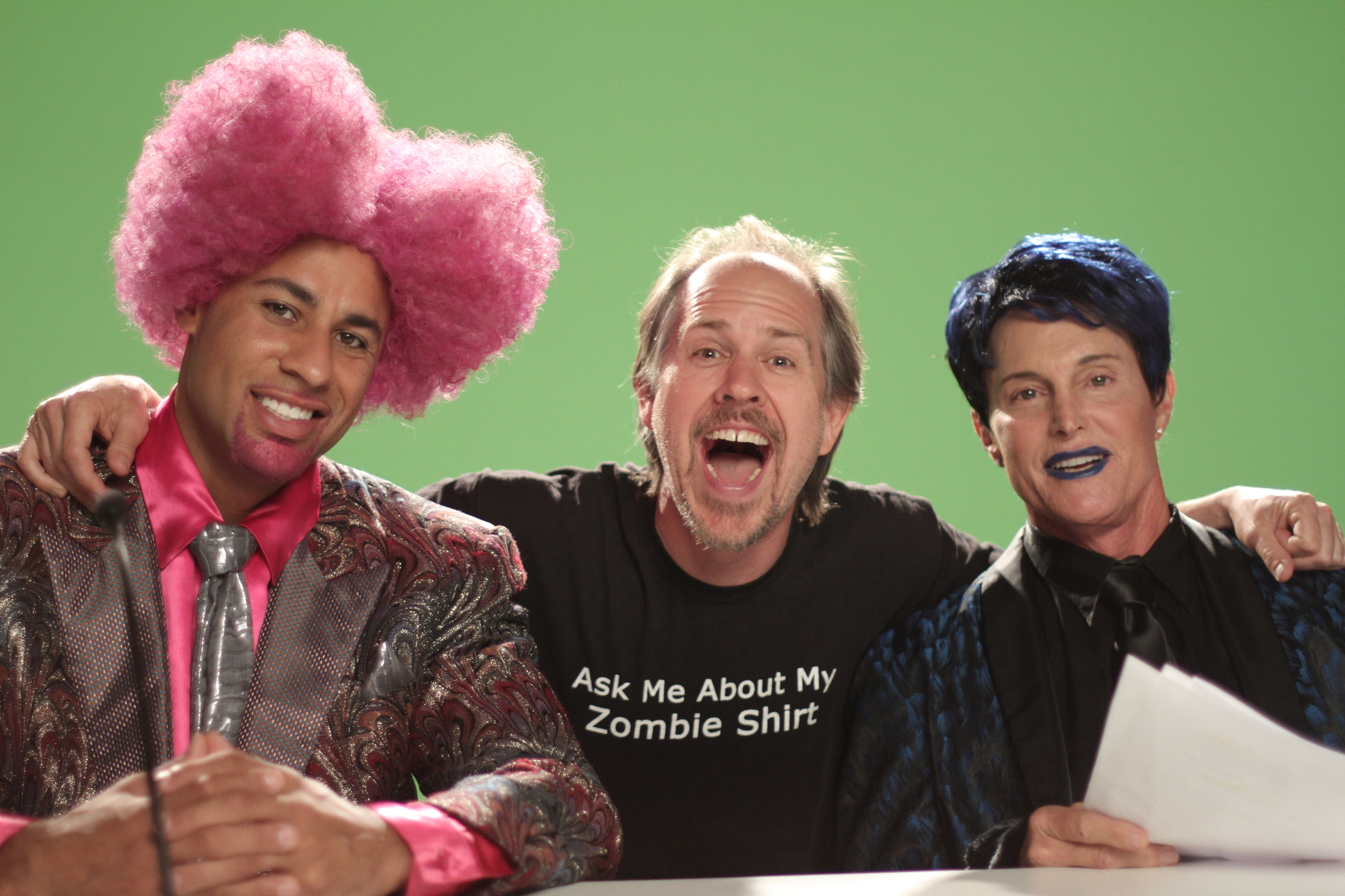 Green Screen with Hank Baskett and Bruce Jenner on The Hungover Games