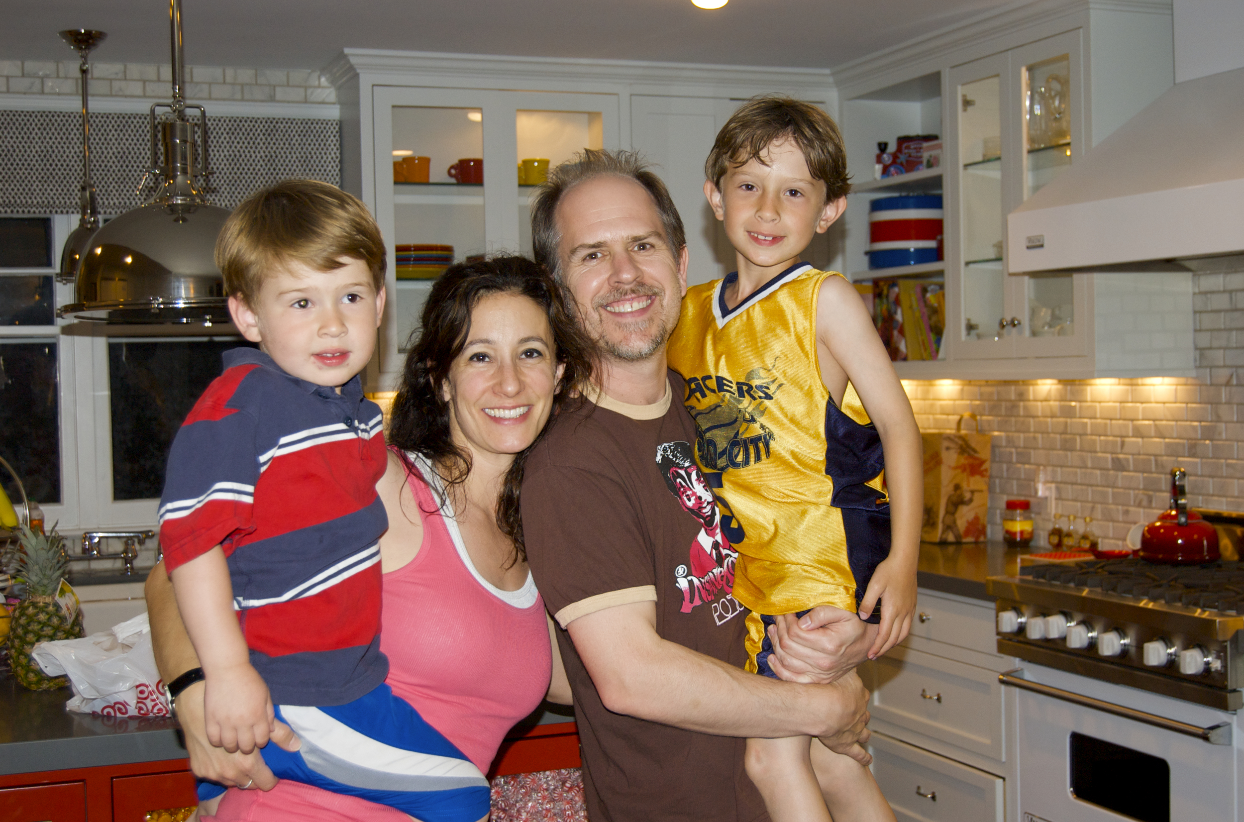 With Xander and Asher and Leila Charles Leigh on Conception