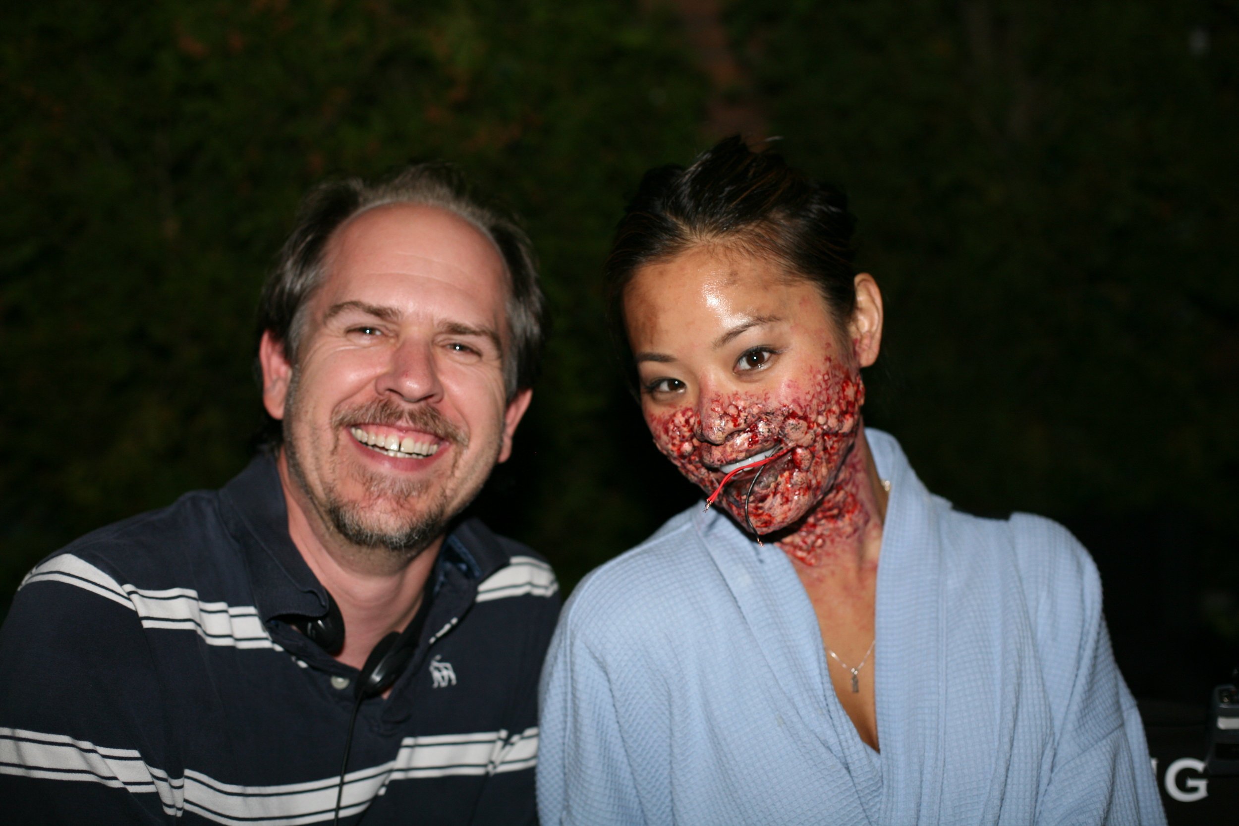 With Jamie Chung in full make-up on Sorority Row