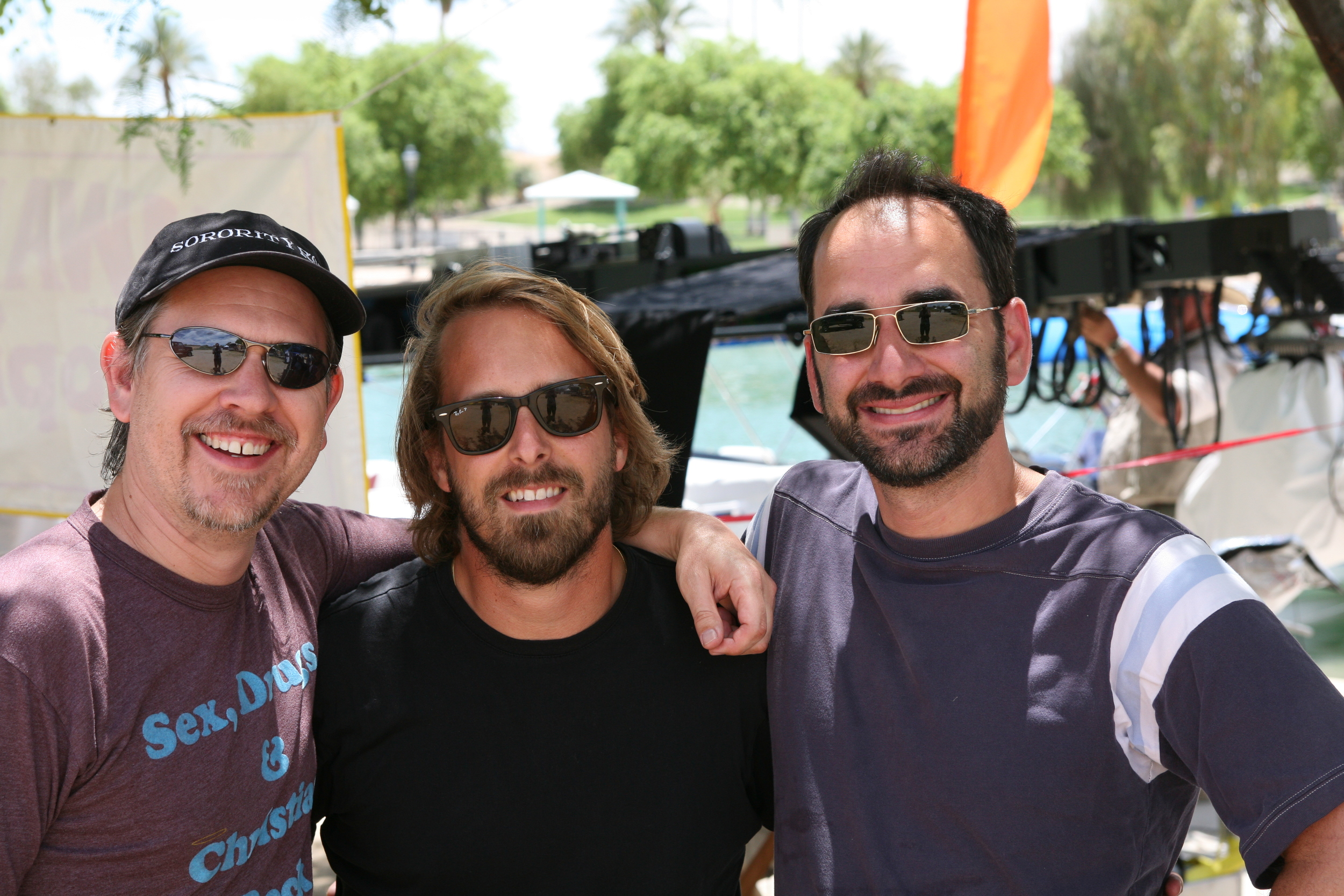 With Director Alex Aja and co-writer Pete Goldfinger on Piranha 3D