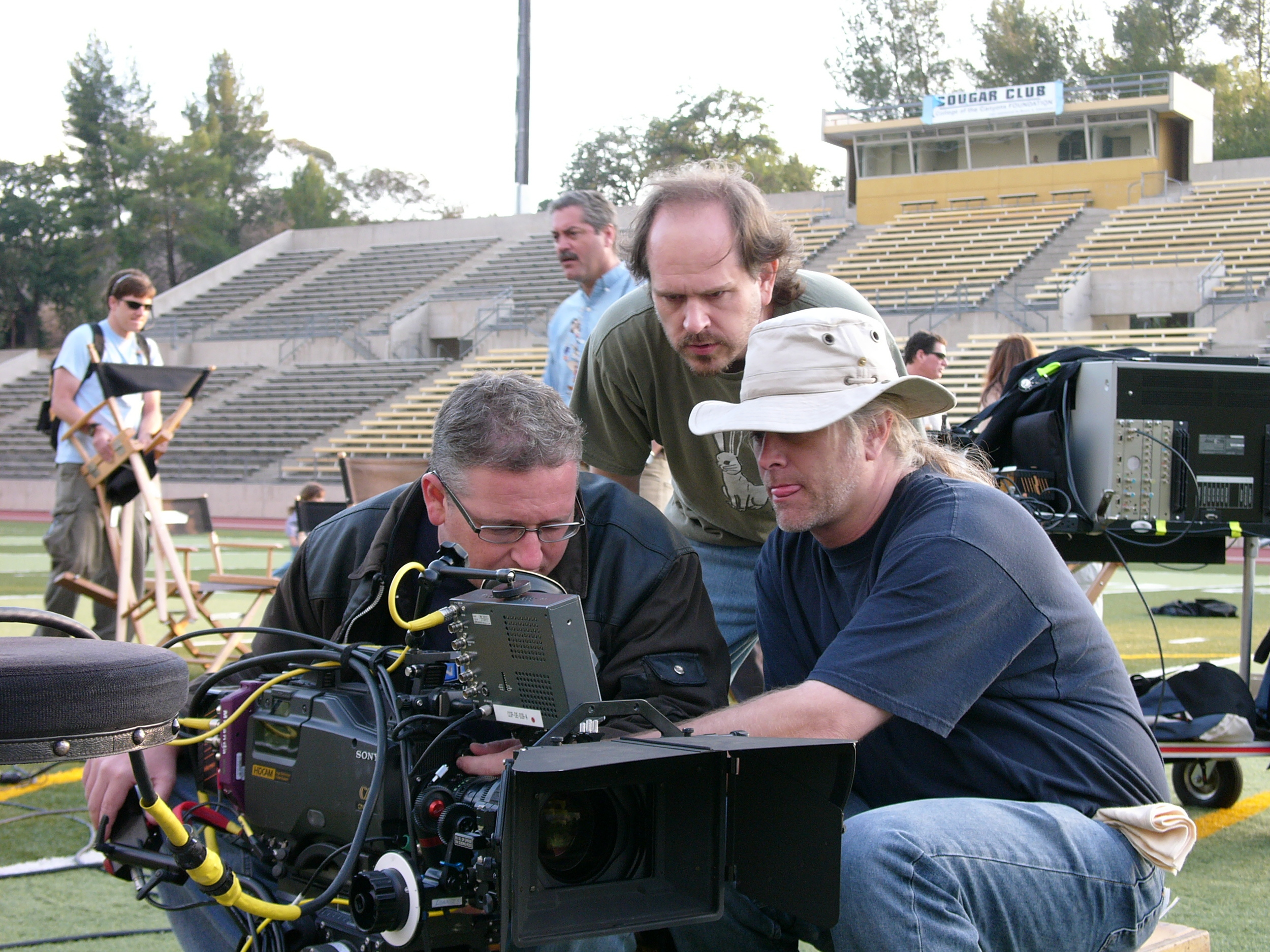 With D.P. Guy Livneh and First Camera Erik Emerson on Kids in America