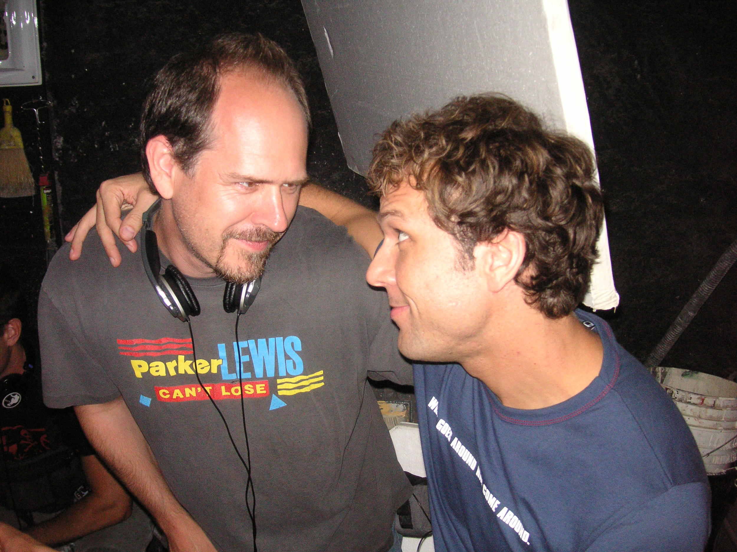 With Dane Cook on Good Luck Chuck