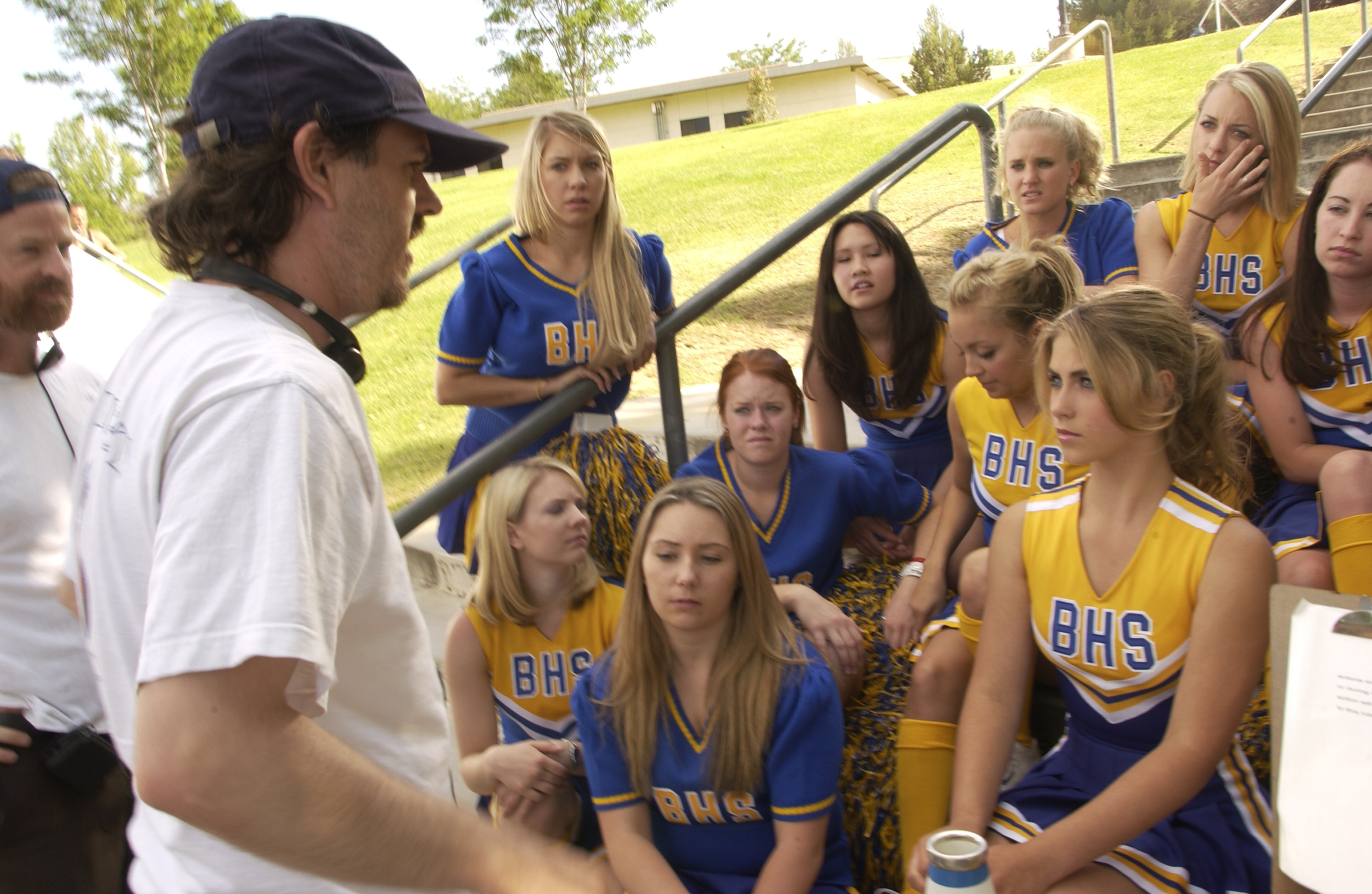 With Caitlin Wachs and Nicole Richie and the cheerleaders of Booker High School on Kids in America