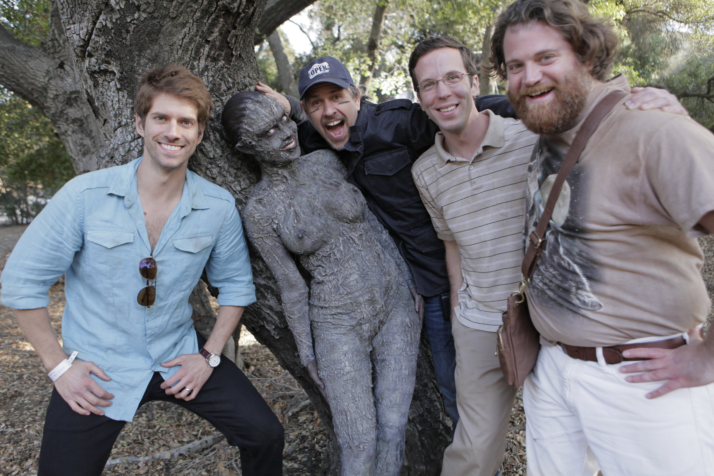 With Ross Nathan, Kayden Kross (the tree), Ben Begley and Herbie Russell on The Hungover Games