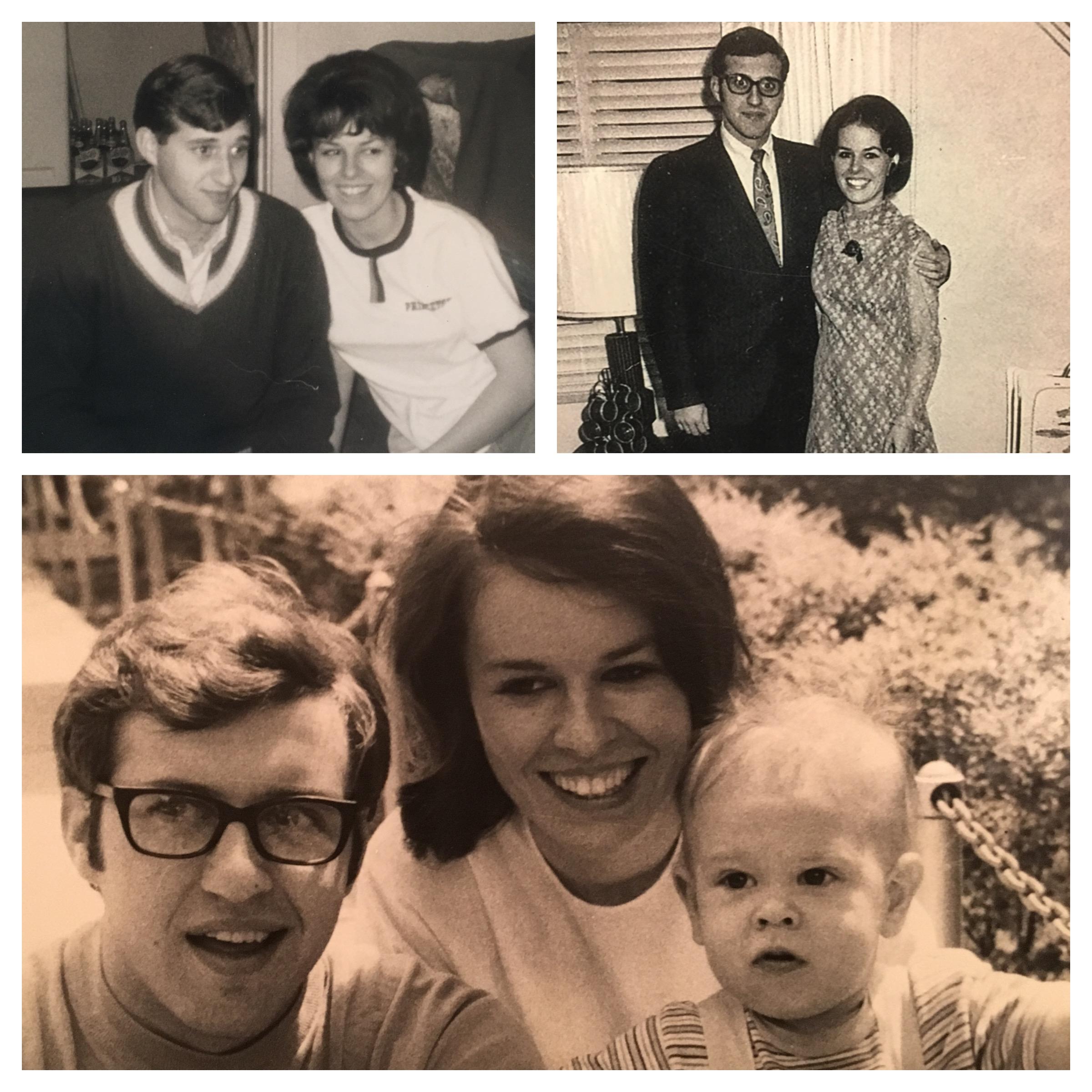 1) My mom and dad; 2)my mom and dad; 3)my mom and dad and me.