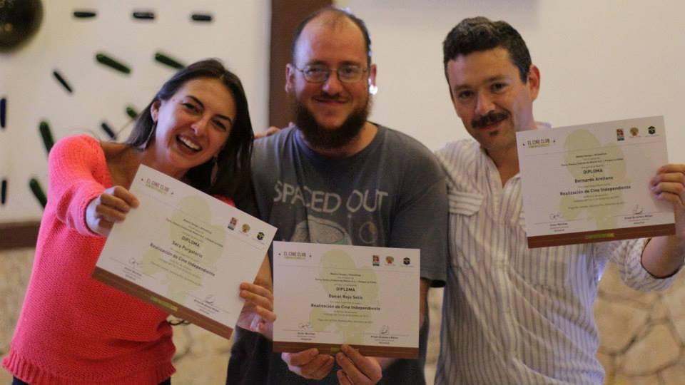 Sara Purgatorio, Daniel Rojo y Bernardo Arellano.