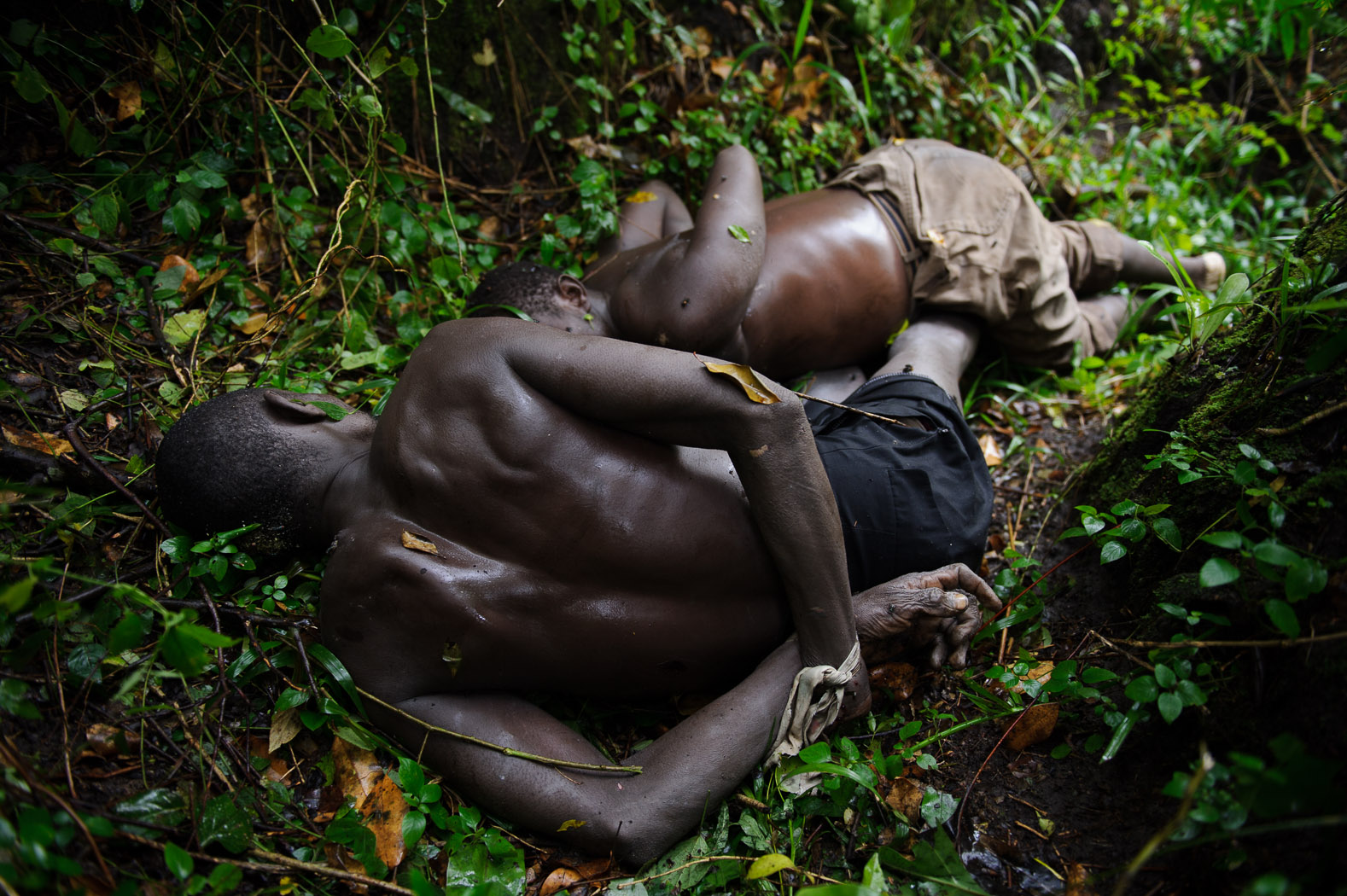 Throughout the rebel campaign, both sides (M23 and FARDC, the Congolese national army) have been accused of human rights abuses. According to rebels, these two men were allegedly massacred by retreating FARDC forces.