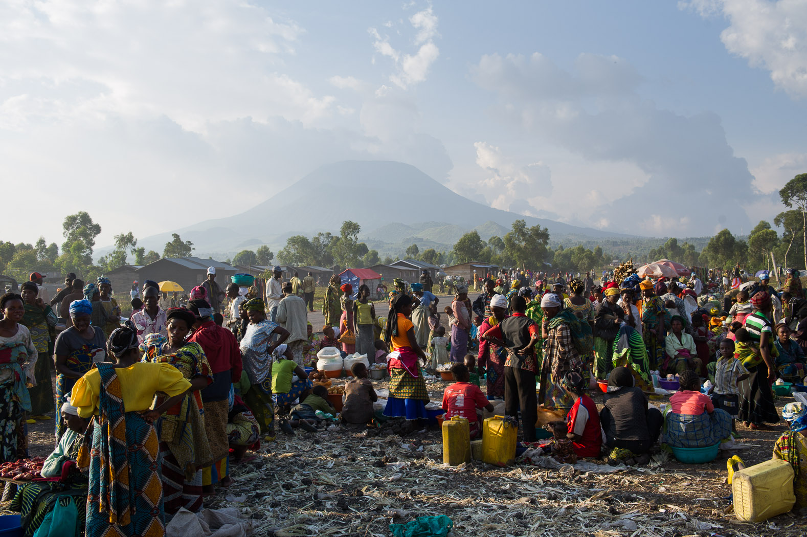 Both temporary- and permanent-camps for the displaced strained with the swelling numbers of displaced.