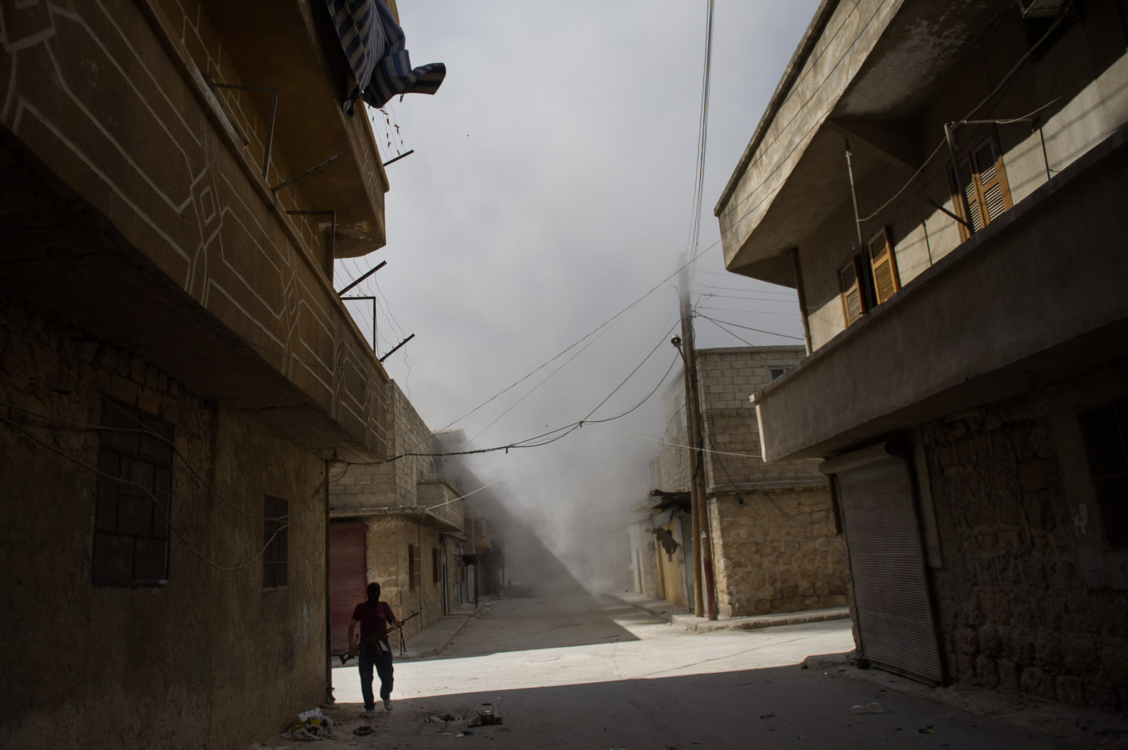 In August, the Salaheddine neighbourhood became the epicentre of the city's conflict. Shells rocked the narrow, residential streets on a daily basis.