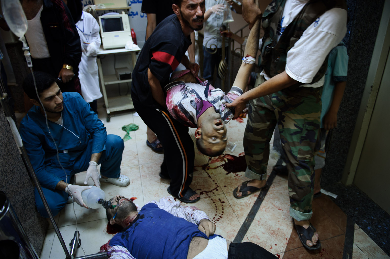 In Aleppo itself, the bodies stacked up, as doctors did all they could to deal with massive trauma with limited supplies.