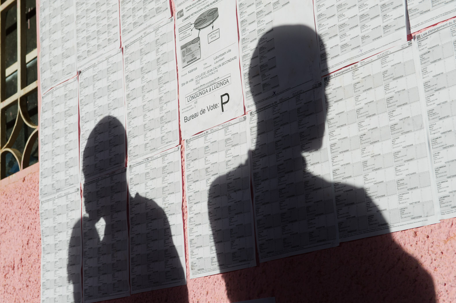 Voter lists were posted on the eve of the elections, but many people were unable to find their names at the polling station for which they were registered.