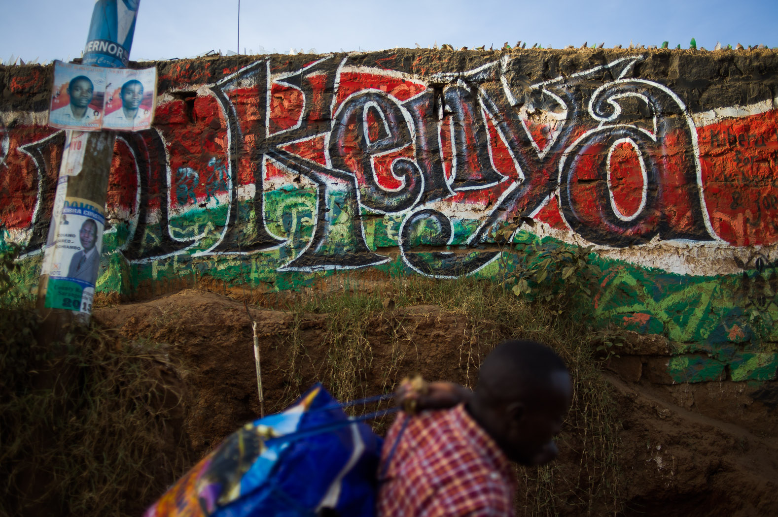 Ahead of Kenya's 2013, graffiti emerged throughout the country—particularly in the areas worst hit in 2007/8—advocating peace.