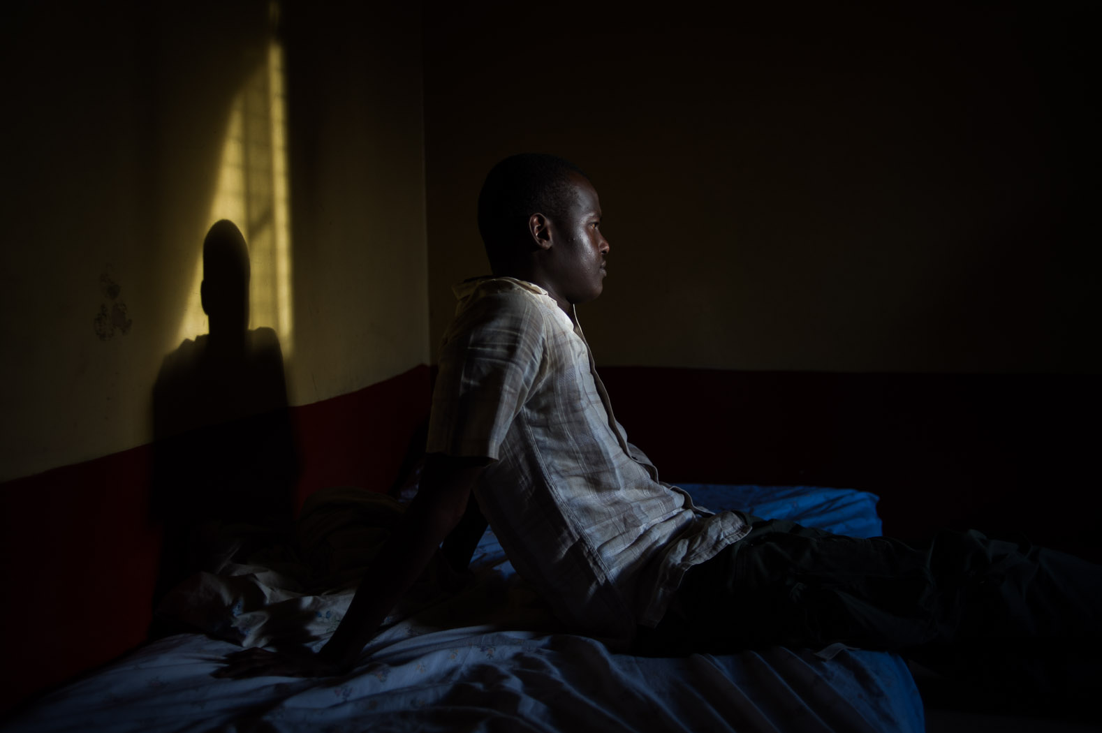 Despite the calls for peace, many feared an outbreak of violence and targeting amongst ethnic lines. This Somali man, a refugee in Kenya, lives in an area of Nairobi that has also been targeted by attacks against ethnic- and national-Somalis. Prior to the elections, he planned on leaving his home to move to Dadaab, the huge refugee complex in north-eastern Kenya, close to the Somali border.