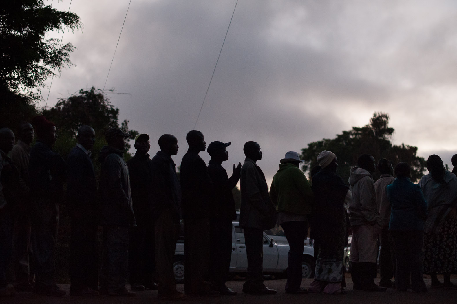 Come voting day, Kenyans turned out before dawn in large numbers to cast their ballot, many waiting in-line for hours. The turn-out was over 85%.