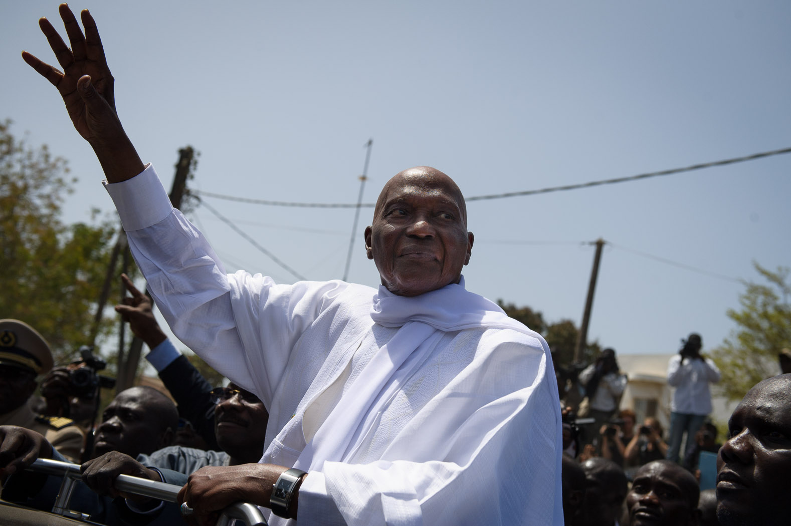 Incumbent Abdoulaye Wade was running for a third term as president.