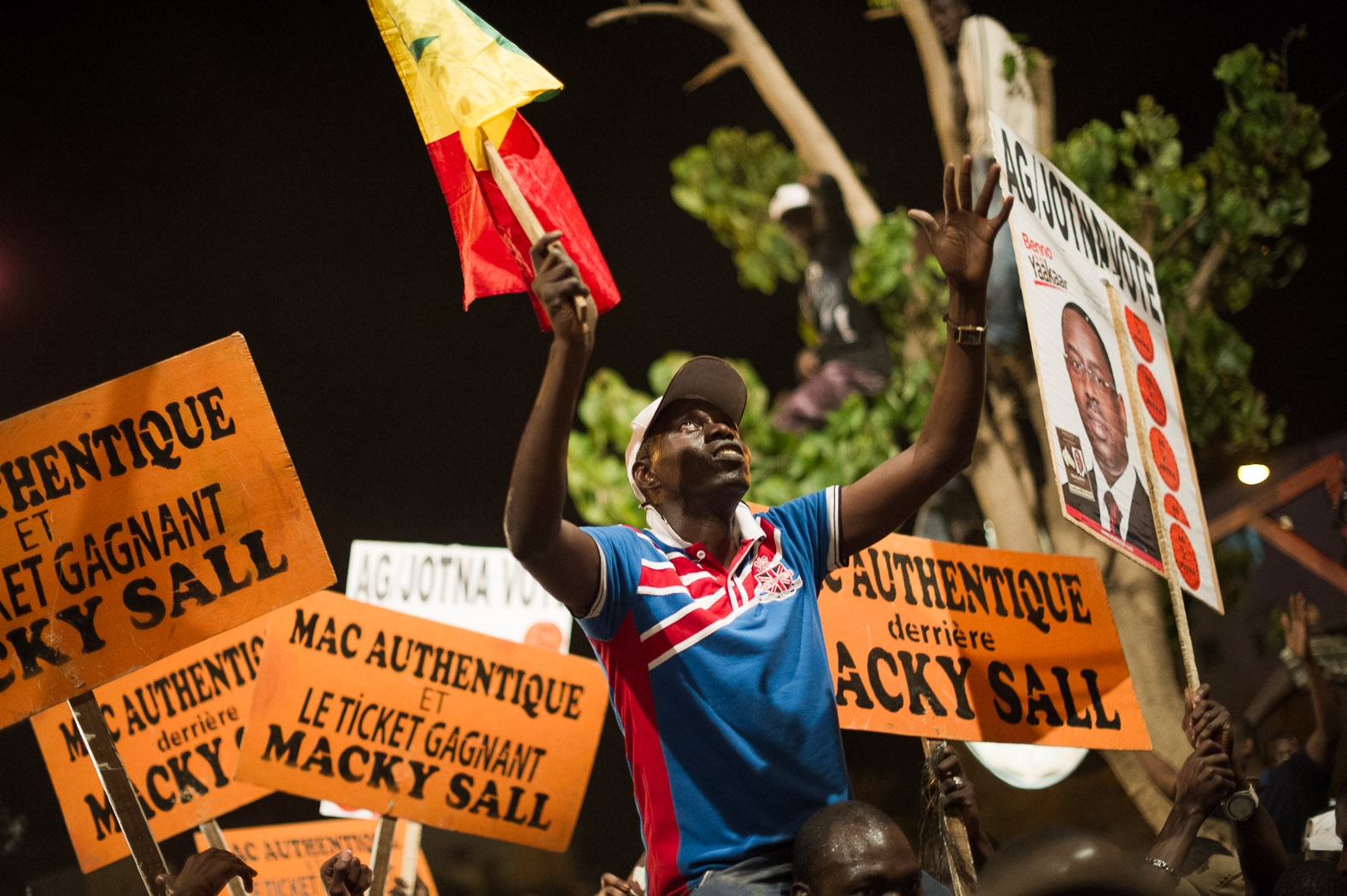 As it became increasingly clear that Sall would take the win, a jubilent atmosphere filled the streets.